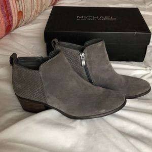 Michael Shannon Gray Booties Size 6.5
